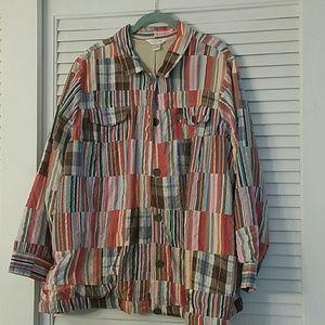 Size 3x CJ Banks plaid Jacket